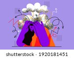 stress  headache  migraine... | Shutterstock .eps vector #1920181451