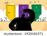 difficult choice  making... | Shutterstock .eps vector #1920181571
