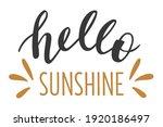 hello sunshine hand drawn... | Shutterstock .eps vector #1920186497