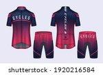cycling jerseys mockup t shirt... | Shutterstock .eps vector #1920216584