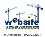 construction cranes builds... | Shutterstock .eps vector #1920223034