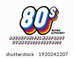 80's style colorful retro 3d...   Shutterstock .eps vector #1920242207