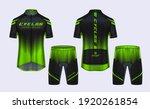 cycling jerseys mockup t shirt... | Shutterstock .eps vector #1920261854