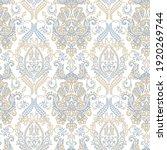floral textured print. damask... | Shutterstock . vector #1920269744