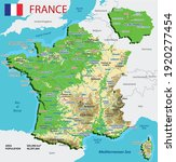 vector geographic map of france.... | Shutterstock .eps vector #1920277454