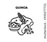 quinoa porridge vector icon... | Shutterstock .eps vector #1920277721