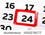 White paper calendar sheet with ...