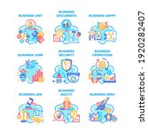 business occupation set icons... | Shutterstock .eps vector #1920282407