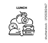 lunch dish food vector icon... | Shutterstock .eps vector #1920282467
