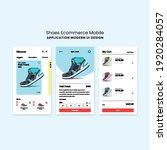 e commerce mobile shoes store...