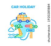car holiday vector icon concept.... | Shutterstock .eps vector #1920285884