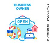business owner vector icon... | Shutterstock .eps vector #1920287471