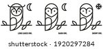Owl Icons. Barn  Long Eared And ...