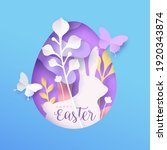 Happy Easter Paper Cut Greeting ...