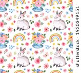 Cute Rabbits Seamless Pattern....