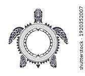 tribal polynesian turtle... | Shutterstock .eps vector #1920352007