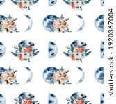 Seamless Pattern Of Watercolor...
