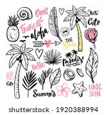 outline tropical theme with... | Shutterstock .eps vector #1920388994