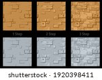 vector set of textured stone...