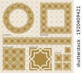ornament border  square frame ... | Shutterstock .eps vector #1920409421
