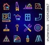 construction neon icons. vector ... | Shutterstock .eps vector #1920428867