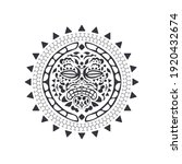 round tattoo ornament with sun...   Shutterstock .eps vector #1920432674