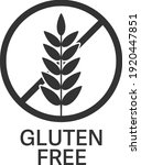 gluten free symbol or label... | Shutterstock .eps vector #1920447851