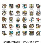 set of concentration thin line... | Shutterstock .eps vector #1920456194
