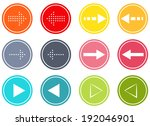 set of 12 isolated buttons with ...