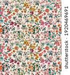 Floral Liberty Pattern. Plant...