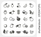 fruit icons set | Shutterstock .eps vector #192047291