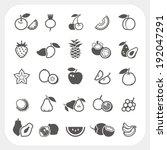 fruit icons set | Shutterstock .eps vector #192047291