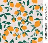 seamless citrus patern. light... | Shutterstock .eps vector #1920474674