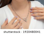 Starry Silver Necklace In The...