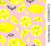 vector seamless pattern lemons... | Shutterstock .eps vector #1920486371