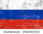 vector old dirty flag of russia. | Shutterstock .eps vector #1920502514