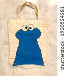 Cookie Monster On Colored Bag