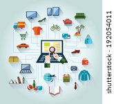 flat and web design banner.... | Shutterstock . vector #192054011