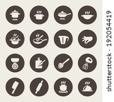 cooking icon set | Shutterstock .eps vector #192054419
