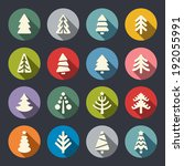 christmas tree icon set | Shutterstock .eps vector #192055991