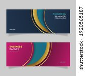 luxury business banner with... | Shutterstock .eps vector #1920565187