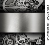 gear in a metal frame. template ... | Shutterstock . vector #192057065
