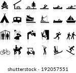 camp and recreation icon signs | Shutterstock .eps vector #192057551