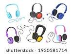 modern headphones flat... | Shutterstock .eps vector #1920581714