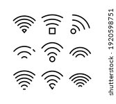 wifi icon or logo isolated sign ... | Shutterstock .eps vector #1920598751