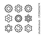 setting icon or logo isolated...   Shutterstock .eps vector #1920603674