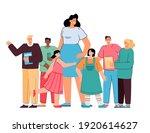 happy school teacher standing... | Shutterstock .eps vector #1920614627