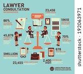 lawyer consultation infographics   Shutterstock .eps vector #192063971