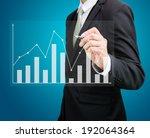 businessman hand drawing a... | Shutterstock . vector #192064364