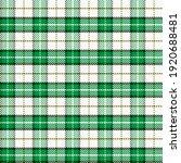 green and white tartan gingham. ... | Shutterstock .eps vector #1920688481